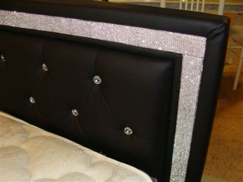 rhinestone bed blk furniture pinterest beds