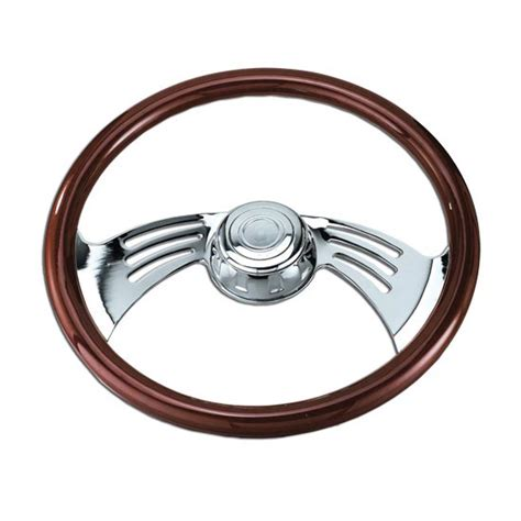 Steering Wheels Trucks Wood Steering Wheel With Chrome For Kenworth 18in 4