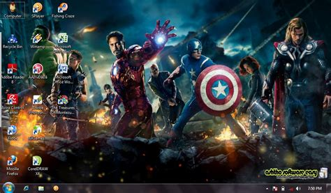 download theme windows 7 avengers download theme film the avengers 2012 untuk windows 7 info