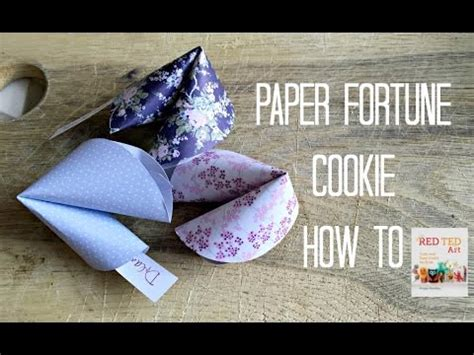 How To Make A Paper Fortune Cookie Step By Step - easy paper fortune cookies tutorial diy