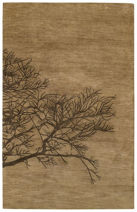shadow branch tree bark desert plateau rug by capel