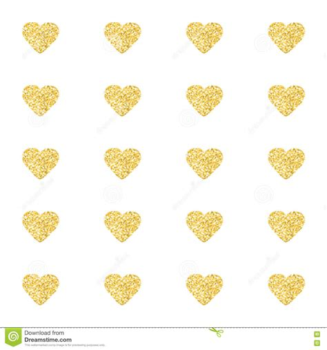 gold heart pattern wallpaper seamless pattern background with gold glitter hearts love