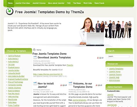 joomla free business templates free joomla 1 5 x templates business affair by themza