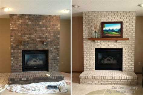 Paint Colors For Brick Fireplace by Painting Brick Fireplace Ideas