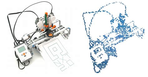 tutorial lego mindstorms nxt 2 0 printerception nxt printer prints self portrait robotsquare