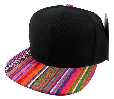 Exclusive Snapback Brim Pattern wholesale aztec snapback hats american pattern brim
