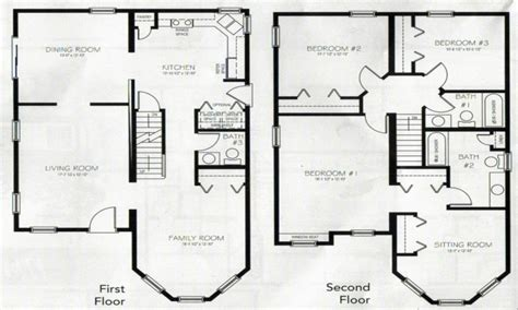 house floor plans 2 story 4 bedroom 3 bath plush home home ideas inspiring family house plans 4 bedroom 2 story house plans 2 story master bedroom two