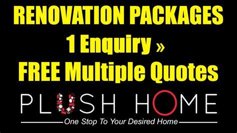 interior design online quote home renovation packages singapore interior design free