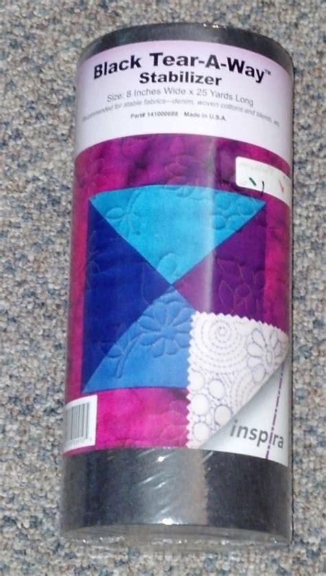 pattern ease stabilizer inspira black tear a way stabilizer 8