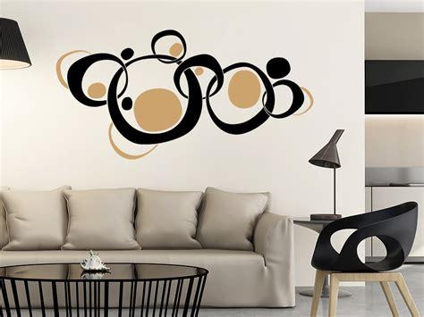 Farben Im Wohnzimmer 3018 by Wandtattoo Retroornament Circles Zweifarbig Wandtattoo De