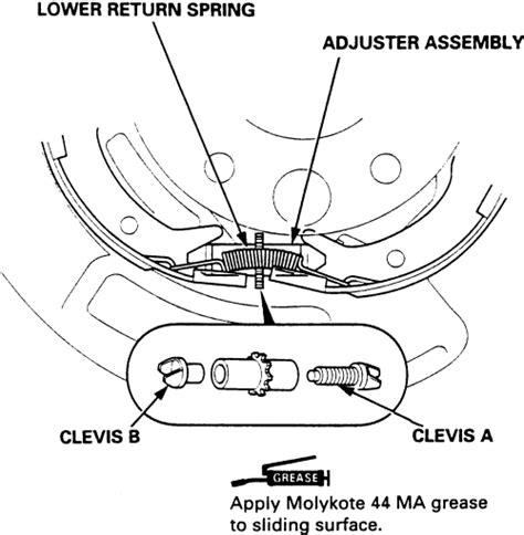 book repair manual 2006 honda odyssey parking system repair guides parking brake parking brake shoes autozone com