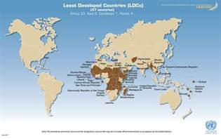 the country of map unctad org map of the least developed countries ldcs