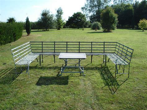 garden table bench set metal garden furniture