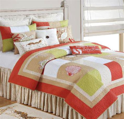 salmon colored bedding sandpiper cove salmon colored quilt and accessories by c