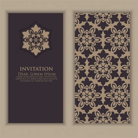 invitation design vintage vintage invitation design vector premium download