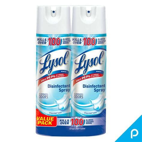lysol disinfectant spray  pack crisp linen scent  oz   ea ebay