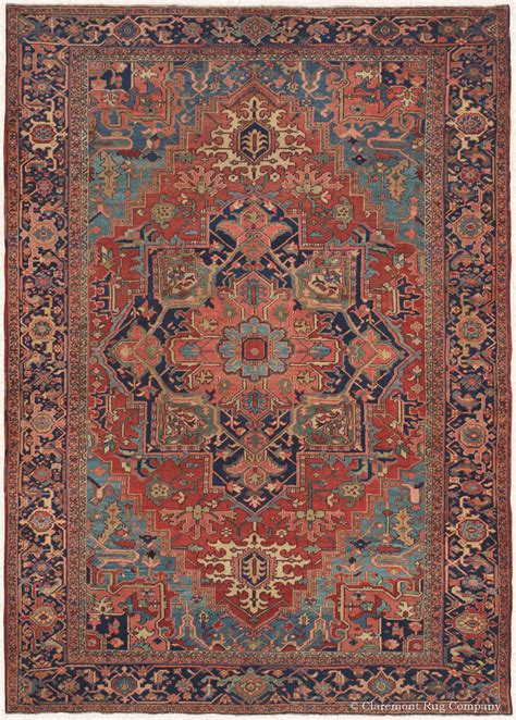 Art Of Antique Heriz Rugs Claremont Rug Company Antique Rugs