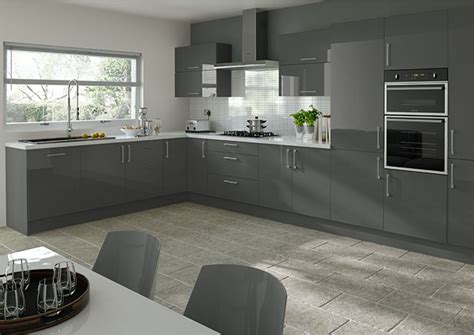 Made To Measure Kitchen Cabinet Doors ultragloss storm grey kitchen doors from 163 5 50 made to