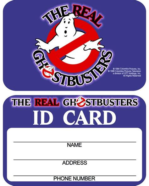 ghostbusters id card template the real ghostbusters id card