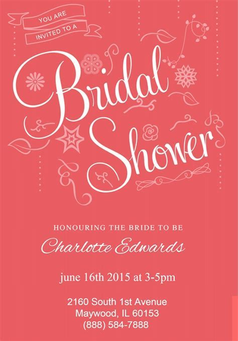 33  Best Bridal Shower Invitation Templates   Word, PSD, AI