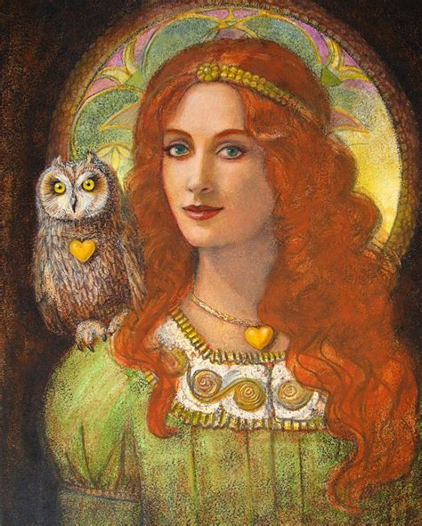 Owl Decor athena and her owl wise ones painting by sue halstenberg
