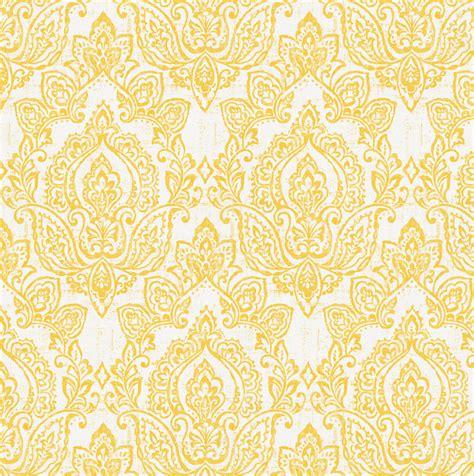 yellow damask pattern white and yellow vintage damask fabric by the yard