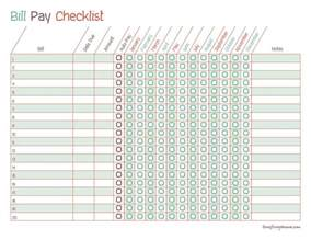 monthly checklist template search results for monthly bill checklist template