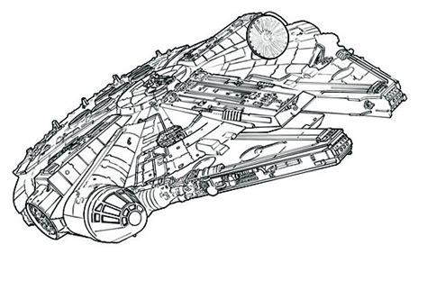 star wars millennium falcon coloring page millenium falcon drawing sketch coloring page