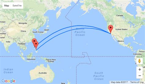 seattle to japan map non stop from los angeles to cebu or manila philippines