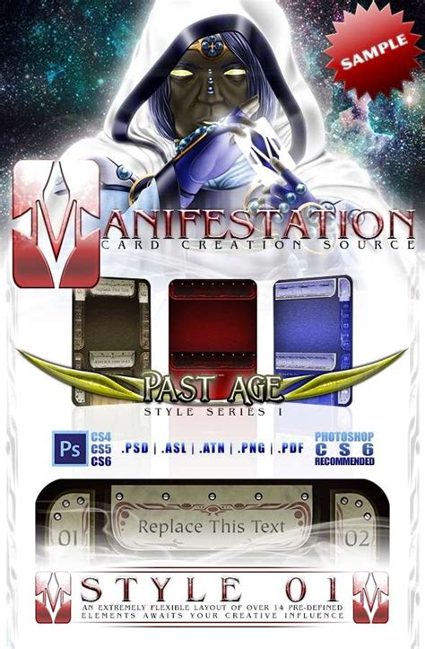 drive thru rpg card template manifestation ccs past age series i style 01 sle