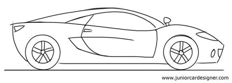 Car Drawing Tutorial for kids: Sports Car Side View