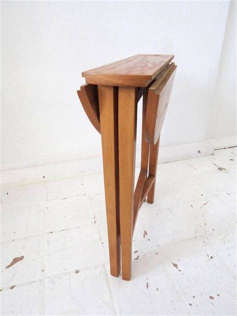 wooden fold up table vintage mid century coffee table or modernist side table