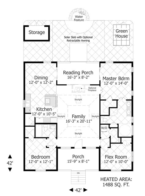 design house plans the eco box 3107 3 bedrooms and 2 baths the house