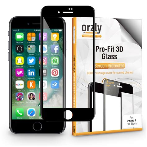 Iphone 7 2 In 1 Premium 3d Glass With Prot Murah iphone 7 pro fit 3d glass screen protector screen black orzly