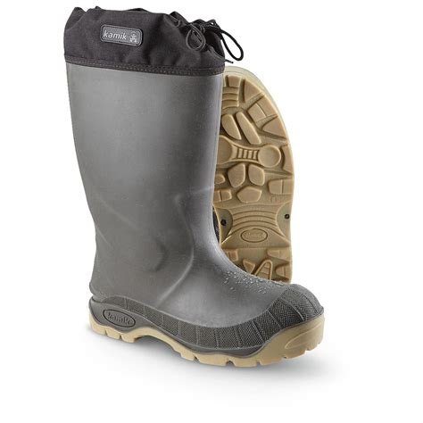 Kanik Mens s kamik 174 goliath 1 waterproof insulated boots 207448 rubber boots at sportsman s guide