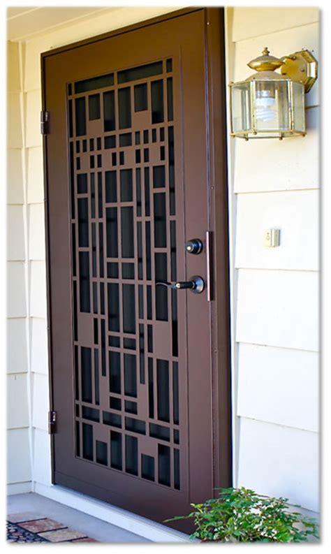 security screen doors metal security sliding retractable security screen doors at