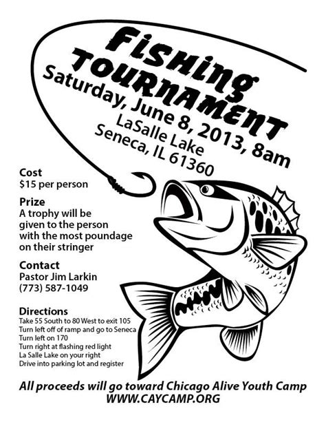 fishing tournament flyer template fishing tournament search tournament poster ideas fundraising