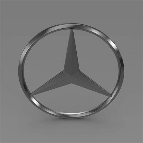 logo mercedes benz 3d mercedes logo 3d model max obj 3ds fbx c4d lwo lw
