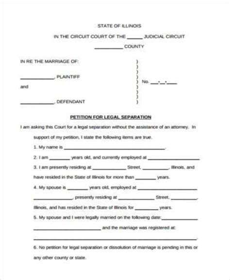 Divorce Request Letter Separation Agreement Form Sles 10 Free Documents In Pdf