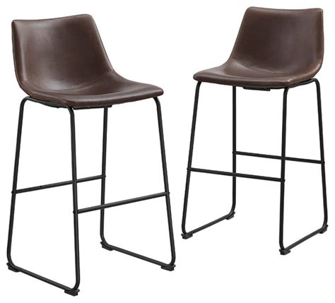 leather top bar stools faux leather bar stools set of 2 contemporary bar