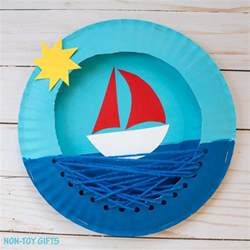This paper plate boat is a fun summer craft for kids it s easy to