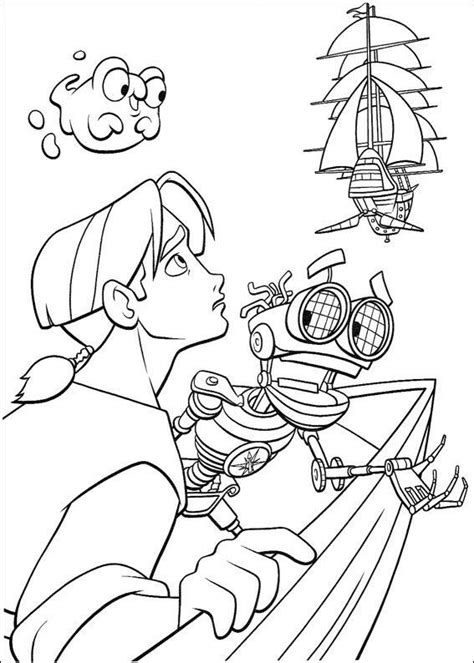 Coloring Page Treasure Planet Coloring Pages 9 Treasure Planet Coloring Pages