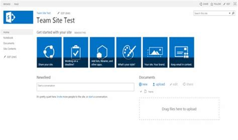 Site Templates Part 1 Team Site In Sharepoint 2013 And Sharepoint Team Site Template