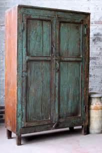 Vintage Cabinet deposit reserved for shari vintage distressed kitchen cupboard turquoise green indian warm