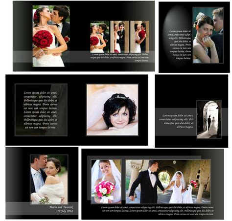 photo album template psd classic style wedding album templates arc4studio