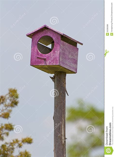 colorful bird houses colorful bird house in farm royalty free stock image