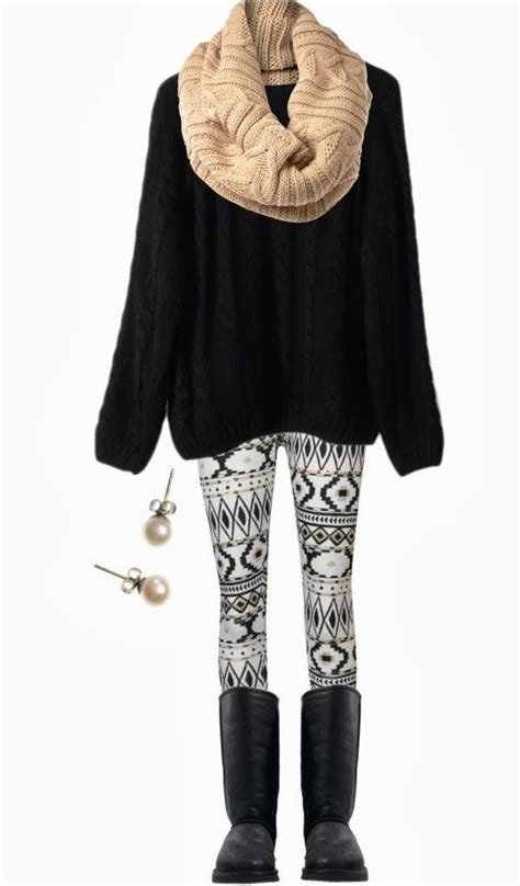winter pattern leggings outfits 1000 images about outfit with legging on pinterest cute