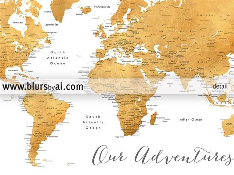 world map pin cities printable world map with cities in gold foil blursbyai