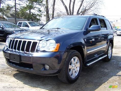 jeep cherokee blue 2008 modern blue pearl jeep grand cherokee limited 4x4