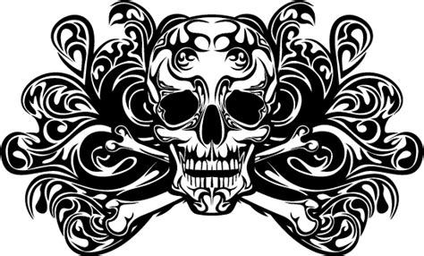 tattoo pattern vector skull tattoo ornament vector material vector ornament